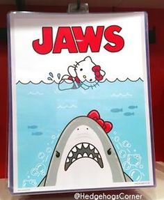Authentic Universal Studios Hello Kitty Jaws Shark Movie Poster ...