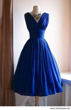 1950's Chiffon Dress by Judikin