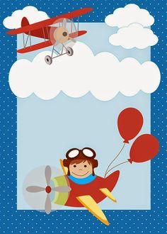Planes Birthday, Baby Birthday, Birthday Ideas, Birthday Invitations, Birthday Cards, Babyshower Party, Kids Background, Airplane Party, Travel Party