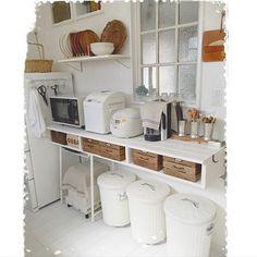 Kitchen,ゴミバケツペイント,リメイク,学校の机,キッチンカウンターDIY,白のチカラ,キッチン大改造! mocoの部屋