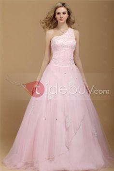 新品プリンセス カラードレス ワンショルダー ロング長さ