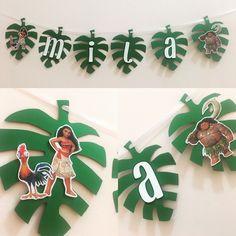 Moana banner, Moana birthday party, moana decor, moana party decorations by SassyPartyDecor on Etsy
