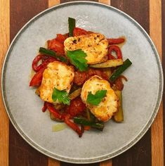 Looking for a light & easy dinner that packs a punch, or perhaps a starter to get your guests salivating? Try this Pan-fried Haloumi Harissa Salad recipe by Australian MasterChef contestant, Pia Gava. Light Easy Dinner, Rose Harissa, Fried Halloumi, Salad Recipes, Zucchini, Salads, Roast, Vegetarian, Chicken