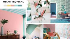 Le moodboard Miami tropical de Julia
