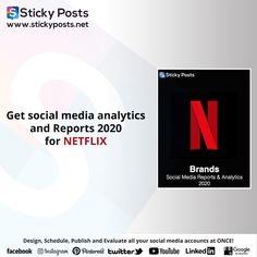 "Netflix social media analysis for 2020 Quarter one totally for FREE!    NOW you can manage all your social media accounts at once!  Sticky Posts System the most economical social media management tool all over the world now available in the Middle East & Africa!  Our Unique Services:-  - Posts Generator "" Design all your social media posts automatic""  - Automatic Scheduling "" Save time & Schedule all your social media activities in less than 10 min""  - Automatic Publishing "" You only need to… Facebook O, Google Facebook, Social Media Analysis, Social Media Management Tools, Social Media Branding, East Africa, Middle East, Schedule, Accounting"