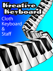Kreative Keyboard, Cloth Keyboard & Staff:  I would love this for lessons.