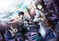 Attack on Titan/ Shingeki no Kyojin - Levi, Isabel and Farlan Armin, Eren E Levi, Eren X Mikasa, Attack On Titan Anime, Levi Manga, Manga Anime, Anime Art, Anime Boys, Levi Ackerman