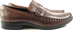 Kenneth Cole Reaction Men Loafer clog Mule Shoes Size 10M Brown.  YYY 15 #KennethColeReaction #LoafersSlipOns