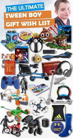 Gifts For Tween Boys Browse our Christmas Gift Guide featuring Best Toys and Christmas Gifts for Kids. Discover the perfect Christmas gifts for your tween boy. Make his Christmas extra magical with these slam-dunk picks! Tween Boy Gifts, Best Gifts For Tweens, Gifts For Teen Boys, Birthday Gifts For Teens, Teen Birthday, Best Birthday Gifts, Kids Gifts, Presents For Boys, 16th Birthday