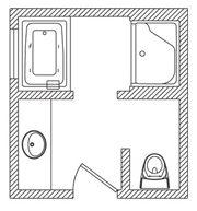 31 Best Bathroom Floor Plans Images Bathroom Floor Plans Bathroom - Bathroom-floor-plans