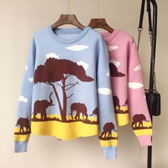 MV Girls Korean Loose Autumn Womens Childrens Sweater Fashion Clothes