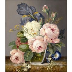 New Diamond Embroidery Flowers Diamond painting Peonies floral design vase crafts wholesale cross stitch Trendy Oil Paintings Art Floral, Floral Style, Floral Design, Oil Painting On Canvas, Diy Painting, Painting Flowers, Canvas Paintings, Floral Paintings, Figure Painting