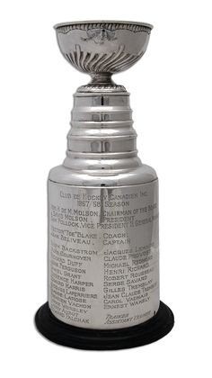1967-68 HENRI RICHARD MONTREAL CANADIENS STANLEY CUP TROPHY. Montreal Canadiens, Stanley Cup Trophy, Henri Richard, Hockey Games, The Duff, Nhl, Happiness, David, Canada