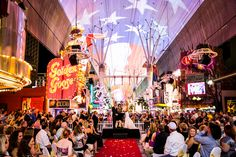 Married ON the spectacular Fremont St in Las Vegas!