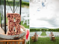 No decorations down the aisle needed with the view and simple decorations.    Katelyn James Photography