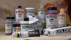 The Golden Acrylics website full of video demos and information! University Art has tons of their products!
