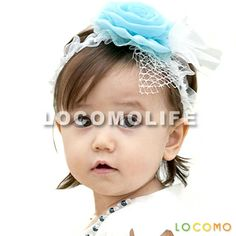 08d287bb7de0 LOCOMOLIFE Baby Girl Cute Headband Wedding Flower Floral Mesh Blue - Baby  Infant Toddler Girl Cute Headband Hairband Headdress Wedding Flower Floral  Mesh ...