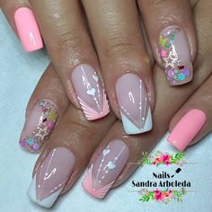 Simple Acrylic Nails, Gorgeous Nails, Nailart, Nail Designs, Instagram, Work Nails, Amor, Decorations, Pretty Gel Nails