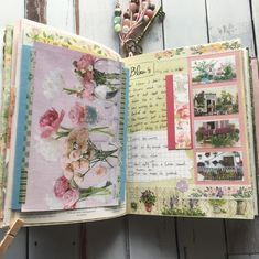 This journaling page is full of flowers!🌸🌼🌺 The beautiful flower photos are from Daphne's Diary and how-to-make-bouquet💐 card came with flowers that I was gifted🎁 Journal Diary, Journal Layout, Junk Journal, Beautiful Flowers Photos, Flower Photos, Daphnes Diary, Vintage Paper Crafts, Diary Writing, Altered Book Art