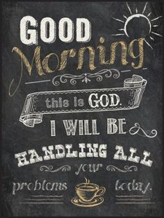 Good Morning, This Is God, Chalkboard Wall Art