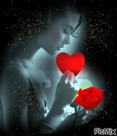 She sprouted love like flowers. Grew a garden in her mind. And even on the darkest days. From her smile the sun still shined. Beautiful Love Pictures, Romantic Pictures, Beautiful Gif, Love Images, Beautiful Roses, Good Night Gif, Good Night Image, Gif Bonito, Beau Gif