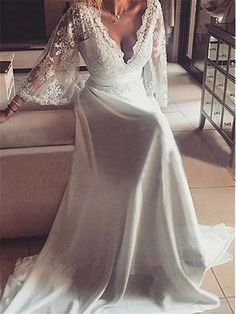 Trendy Wedding Dresses Simple Plus Size Products Western Wedding Dresses, Wedding Dresses Plus Size, Wedding Dress Styles, Bridal Dresses, How To Dress For A Wedding, Wedding Dress Chiffon, Lace Dress, Wedding Gowns, Dress Long