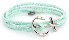 Silver Anchor Seafoam   Pura Vida Bracelets. Save 10% use DERKS10 at checkout! www.puravidabracelets.com