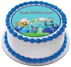 ADVENTURE TIME Edible Birthday Cake Topper