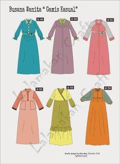15 new Ideas for clothes design pattern Trendy Dresses, Modest Dresses, Modest Outfits, Abaya Designs, Muslim Fashion, Modest Fashion, Fashion Outfits, Simple Tunic, Dress Design Sketches