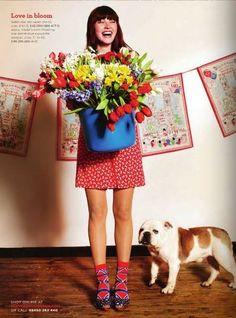 From Cath Kidston Magazine: http://www.cathkidston.co.uk/ Found on Tea for Joy: http://teaforjoy.blogspot.com/2011/04/cath-kidston-magazine.html love the flowers and the wardrobe styling