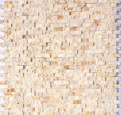Mini Split Face Stone Tile Gold