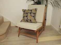 Ercol Modular chair model 427 individual by TheHappyChairCompany Ercol Chair, Ercol Furniture, Sideboard Furniture, Antique Sofa, Mid Century Living Room, Foam Cushions, Mid-century Modern, Upholstery, Dining Chairs