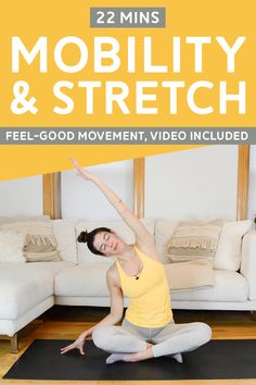 Feel-Good Guided Mobility & Stretch - This guided mobility and stretching flow is great for injury prevention and feeling your best. Hiit Workout Videos, Post Workout, Fun Workouts, Fitness Tips For Women, Health And Fitness Tips, Yoga Background, Home Workout Schedule, Best Body Weight Exercises, Injury Prevention
