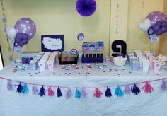 Candy bar petrecere Violetta Birthday Cake, Candy, Desserts, Bar, Tailgate Desserts, Deserts, Birthday Cakes, Postres, Sweets