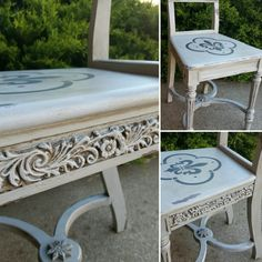 A fantastic example of how you can use the IOD Decor Moulds on furniture. This antique chair had a space just begging for a little bling. Look how stunning it is with the Chalk Paint ™ in all its wonderful details.
