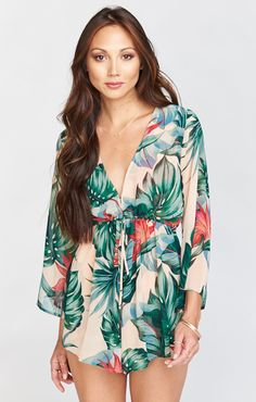 The Roxy Romper is a feisty girl who has mastered the art of the class and sass.  She knows just how low she can go to keep you feeling hott and sophisticated all at the same time.  Some may say she's a tease, but she's just smarter than the others.  She has a waist-tie to make sure she fits you perfectly.                                               *MADE IN THE GORGE USA* *100% Poly Chiffon *Ties around waist *Hook & eye in front *Lined