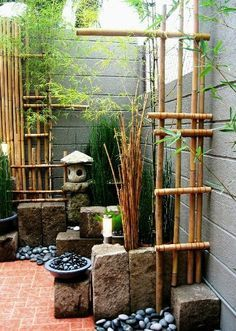 Modern Zen Minimalist Garden More - Gardening Zones. Zen Modern Zen Minimalist Garden More - Gardening Zones. Indoor Zen Garden, Diy Garden, Dream Garden, Garden Projects, Bamboo Garden Ideas, Garden Junk, Small Japanese Garden, Japanese Garden Design, Japanese Gardens