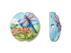 Art Bead Scene of Dragonflies and Flowers by Grace Lampwork #legendaryinspiration