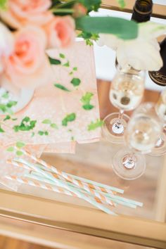 striped straws | Emily March Photography