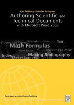 Authoring Scientific and Technical Documents With Microsoft Word 2000