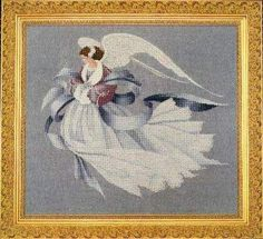 lavender and lace cross stitch | Angel of Winter by Lavender and Lace - Cross Stitch Kits & Patterns