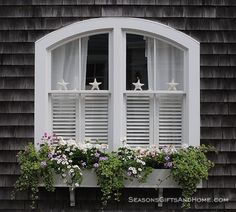 Cape Cod Window Boxes | Starfish and Window Box. More Decor Ideas here: http://www.completely ...