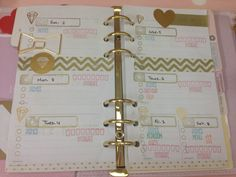 My beautiful planner .. All about Gold