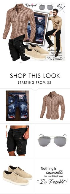 """""""Casual style 15."""" by merimaa997 ❤ liked on Polyvore featuring Yves Saint Laurent, Tod's, WALL, men's fashion and menswear"""