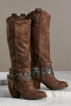 Versona embellished ankle wrap boots #Versona...visit Designs By Maral, on etsy for trending accessories...http://etsy.com/shop/designsbymaral/
