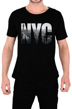 $179.00 Playera New York City Logo - Comprar en Jinx Boys T Shirts, Cool Shirts, Tee Shirts, T Shirt Designs, T Shirt Custom, Camisa Polo, Best Mens Fashion, Shirt Refashion, Mens Outfitters