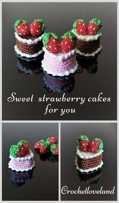 #crochetfood #crochetcake #strawberrycake (scheduled via http://www.tailwindapp.com?utm_source=pinterest&utm_medium=twpin)