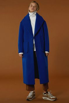 [unisex] Over size drop coat {Limited color} blue