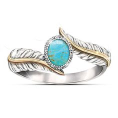 """Free Spirit"" Turquoise Cabochon Sterling Silver Ring"