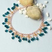Simple Bead and Chain Collar Necklace